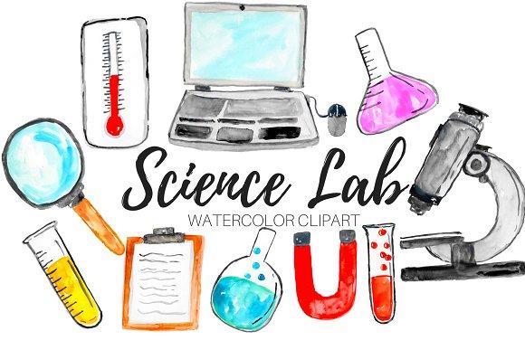 Watercolor Science Clipart