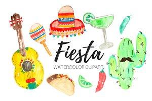 Watercolor Fiesta Clipart