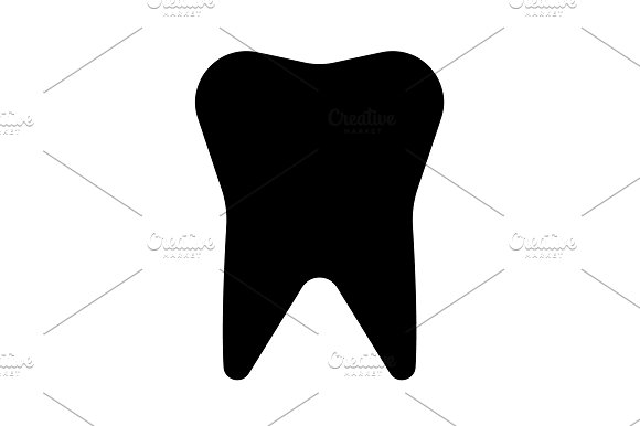 Tooth Icon Vector Illustration