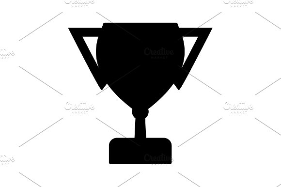Vector Winner Cup Icon Black