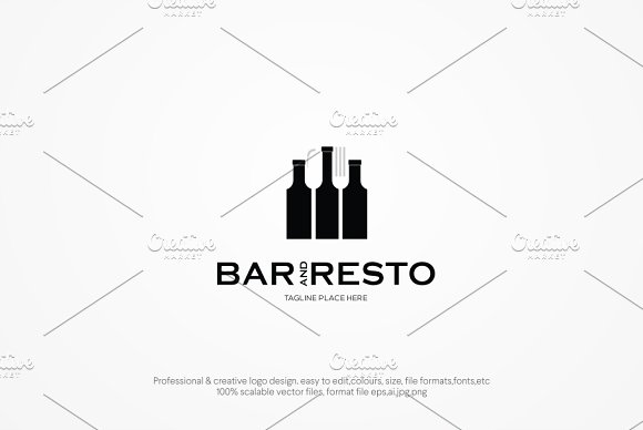BAr And Resto Logo Template