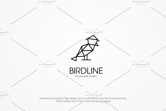 Bird Line Logo Template