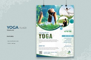 Yoga & Fitness Training Flyer