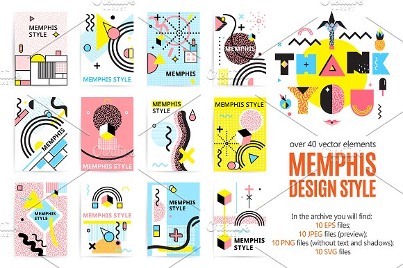 Sale Memphis Design Style Pack