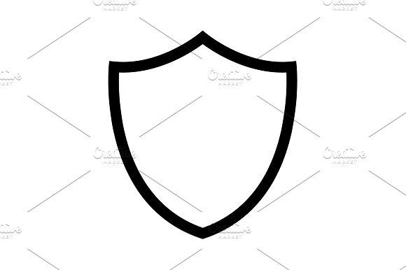 Shield Line Icon Vector