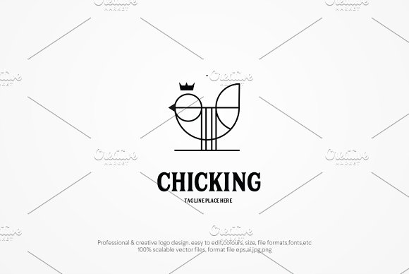 Chic King Logo Template