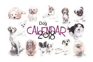 Dog's calendar 2018-19