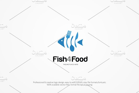 Fish For Food Logo Template