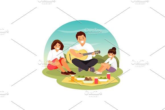 Family Picnic Vector