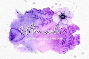 Watercolor ultra violet backgrounds