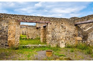 Ruins of Roman houses in Pompeii