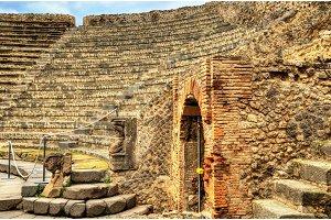 Odeion, the small theatre of Pompeii