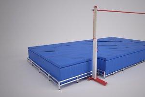 Track & Field High Jump Bar & Mat