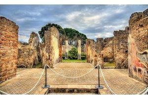 Ruins of Roman houses in Pompeii