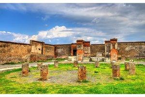 Macellum, an ancient market in Pompeii
