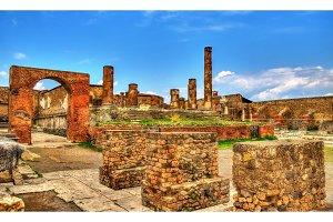 Temple of Jupiter in Pompeii - Italy