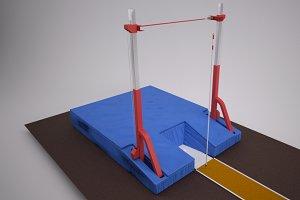 Track & Field Pole Vault Bar & Mat