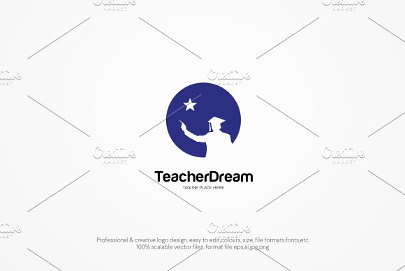 Teacher Dream Logo Template