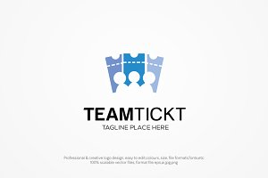 team ticket logo template