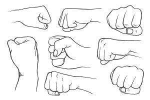 Set of fists