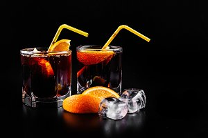 Rum and cola refreshing alcohol