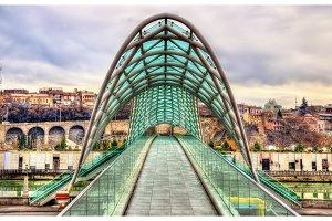 Bridge of Peace in Tbilisi, Georgia