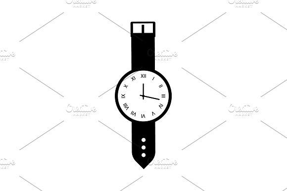 Wristwatch Icon Vector Illustration