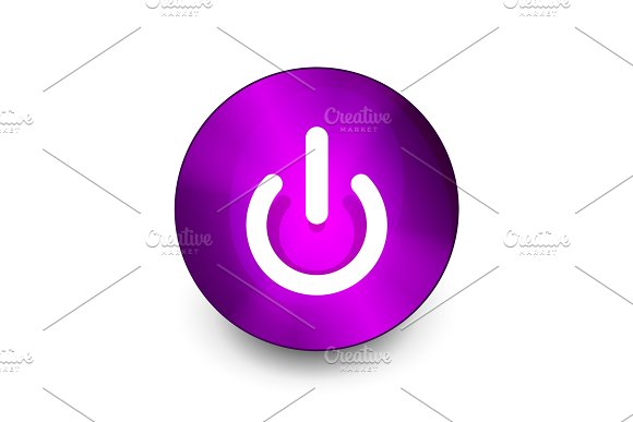 Power Button Icon Start Symbol