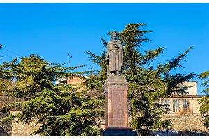 The monument to Shota Rustaveli in Tbilisi