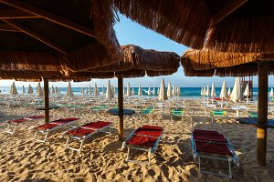 Salerno Ionian sea beach, Italy