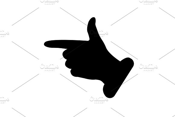 Hand Cursor Icon Vector Black