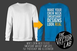 Men's Crew Neck Sweatshirt Templates