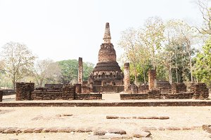 Relics and old brick in Ayutthaya, T