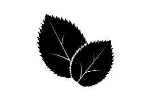 Leaf icon, vector illustration.