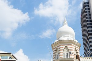 Mosque dome downtown in malaysia.