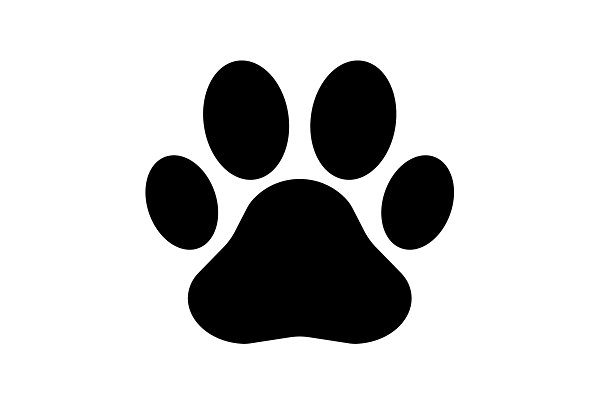 Paw Print icon. Vector black