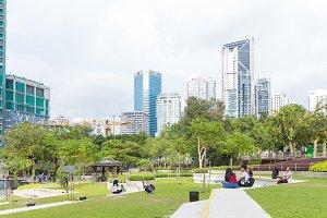 Garden in the town. Kuala Lumpur, Ma