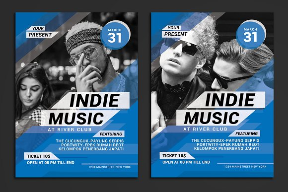 Indie Music Event Flyer