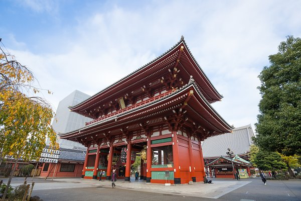 Architecture Stock Photos - Sensoji a famous ancient