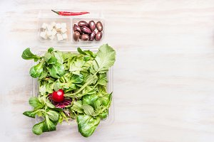 Vegetarian salad lunch box
