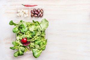 Vegetarian salad lunch box