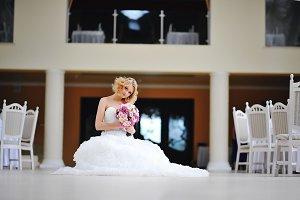 beautiful blonde model bride