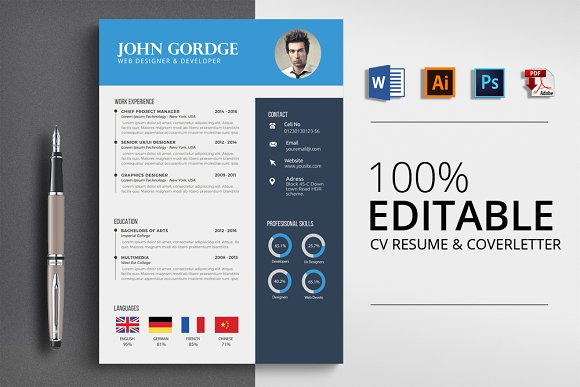 Professional Word Format Cv Resume