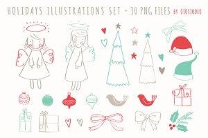 Christmas Clip art set - PNG