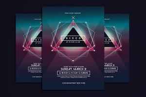Electro Disco Music Flyer