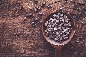Darl chocolate drops or morsels