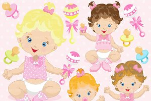 Baby Girl Clipart, AMB-830