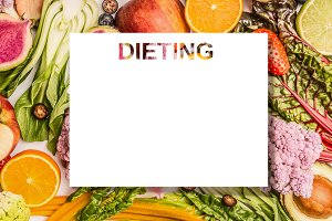 Dieting plan concept