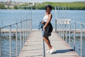 Stylish african american model