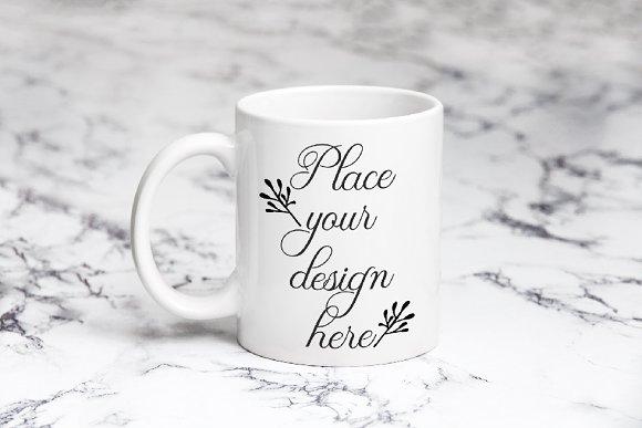 White Coffee Mug 11oz Cup Mockup
